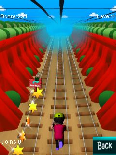 Скриншот java игры Subway runner 2014. Игровой процесс.