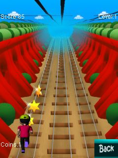 Mobil-Spiel Subway Runner 2014 - Screenshots. Spielszene Subway runner 2014.