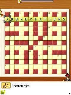 Download free game for mobile phone: DChoc Cafe: Crosswords - download mobile games for free.