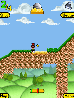 Mobile game Arcade Sidegolf - screenshots. Gameplay Arcade Sidegolf.