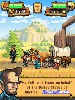 Download free mobile game: The Oregon Trail 2: Gold Rush - download free games for mobile phone.