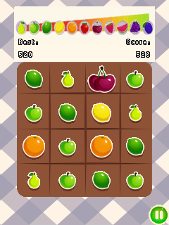 Mobile game 2048: Fruits - screenshots. Gameplay 2048: Fruits.