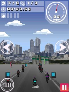 Jeu mobile Moto courses professionnelles 2015 - captures d'écran. Gameplay Motorbikes Pro 2015.