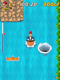 Jeu mobile Woody Woodpecker à la cascade - captures d'écran. Gameplay Woody Woodpecker in Waterfools.