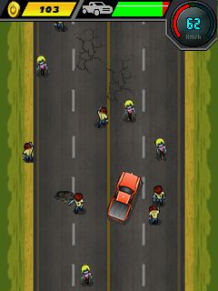 Jeu mobile Courses d'auto: Tueur de zombis - captures d'écran. Gameplay Car Racing: Zombie Killer .