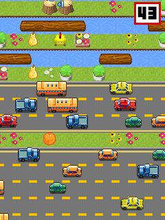 Скриншот java игры Cross The Road Bit. Игровой процесс.