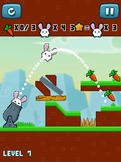 Jeu mobile Lapin avide: Redémarrage - captures d'écran. Gameplay Greedy Bunny: Reloaded.