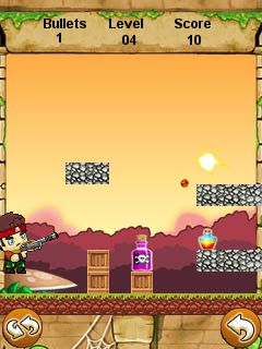 Скриншот java игры Angry Bottle Shooter. Игровой процесс.