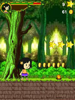 Скриншот java игры Chiu: The Brave Girl. Игровой процесс.