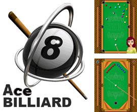In addition to the game High School Love: Trip for mobile phone, you can download mobile game Ace billiard for free.