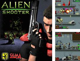 In addition to the game Zombies in Space for mobile phone, you can download mobile game Alien shooter for free.