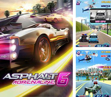 In addition to the game Super car race for mobile phone, you can download mobile game Asphalt 6 Adrenaline for free.