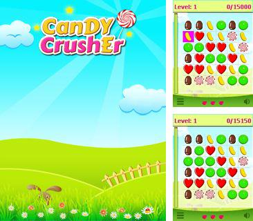 In addition to the game Smiles stones for mobile phone, you can download mobile game Candy crusher for free.