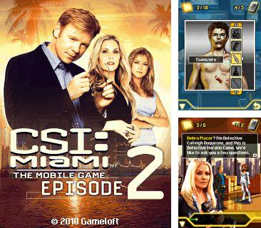 In addition to sis game CSI Miami Episode 2 for Nokia E70,  you can download for free other games for Symbian.