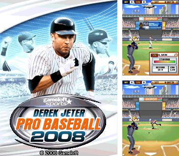 Download free mobile game: Derek Jeter Pro Baseball 2008 - download free games for mobile phone.