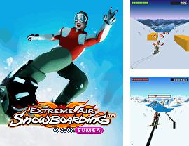 Download free mobile game: Extreme air snowboarding 3D - download free games for mobile phone.