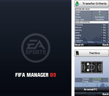 Download free mobile game: FIFA Manager 2009 - download free games for mobile phone.