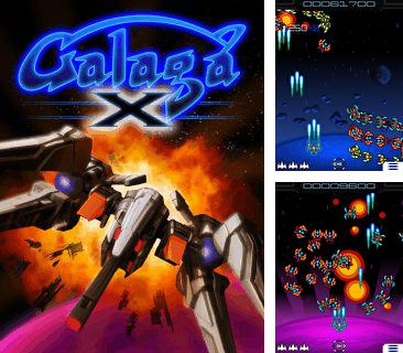 In addition to the game Bubble Pop for mobile phone, you can download mobile game Galaga X for free.
