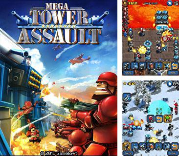 In addition to the game Bubble Boom for mobile phone, you can download mobile game Mega Tower Assault for free.