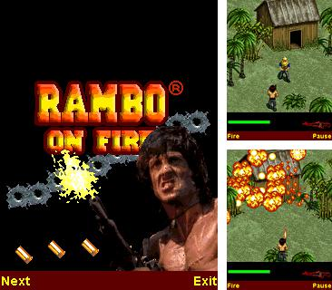 In addition to the game Formula Race for mobile phone, you can download mobile game Rambo On Fire for free.