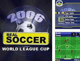 Download free mobile game: Real Soccer 2006 World League Cup - download free games for mobile phone.