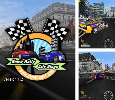 Download free mobile game: Snow Rally City Stage - download free games for mobile phone.