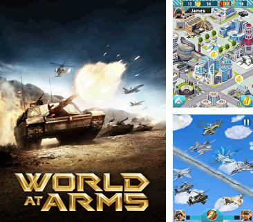Además del Java juego Botón del globo para teléfonos móviles, también puedes descargarte gratis El mundo en fuego: Táctica de la guerra moderna, World at arms: Wage war for your nation.