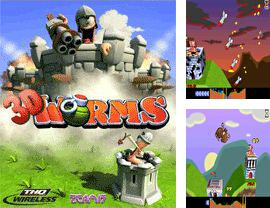 In addition to the game Car race 2 for mobile phone, you can download mobile game Worms Forts 3D for free.