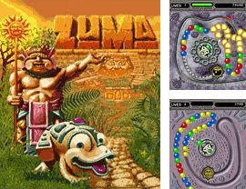 In addition to the game Caveman penalty kicks for mobile phone, you can download mobile game Zuma for free.