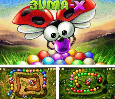 Download free mobile game: Zuma-X - download free games for mobile phone.