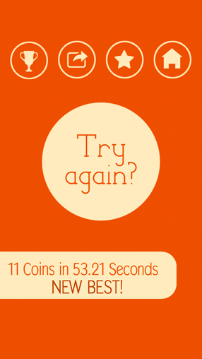 Screenshots of the 15 coins game for iPhone, iPad or iPod.