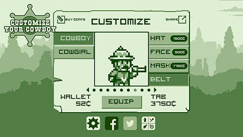 Capturas de pantalla del juego 2-bit cowboy rides again para iPhone, iPad o iPod.