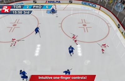 Écrans du jeu 2K Sports NHL 2K11 pour iPhone, iPad ou iPod.