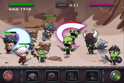 Screenshots of the 3 armies game for iPhone, iPad or iPod.