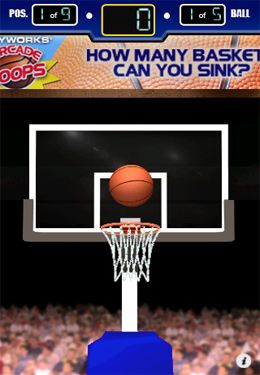 Screenshots vom Spiel 3 Point Hoops Basketball für iPhone, iPad oder iPod.