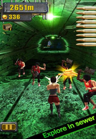 Capturas de pantalla del juego 3D City Run Hot para iPhone, iPad o iPod.