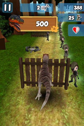 Free 3D Dino raptor race download for iPhone, iPad and iPod.