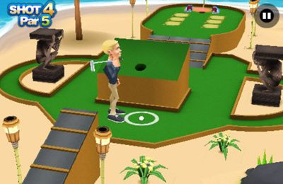 Screenshots of the 3D Mini Golf Challenge game for iPhone, iPad or iPod.