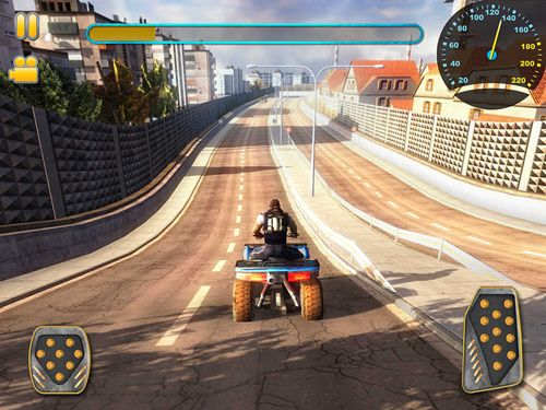 Screenshots of the 3D quad bikes game for iPhone, iPad or iPod.