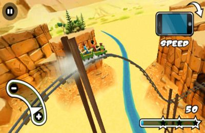 Free 3D Rollercoaster Rush download for iPhone, iPad and iPod.