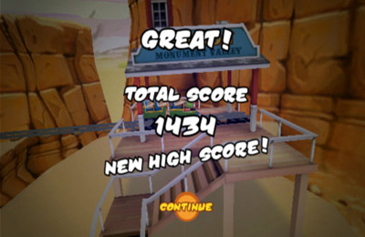 Screenshots of the 3D Rollercoaster Rush game for iPhone, iPad or iPod.