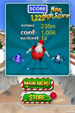 Скачать 3D Santa run & Christmas racing на iPhone бесплатно