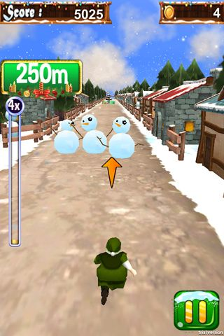 Descarga gratuita de 3D Santa run & Christmas racing para iPhone, iPad y iPod.