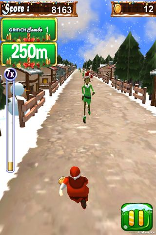 Capturas de pantalla del juego 3D Santa run & Christmas racing para iPhone, iPad o iPod.
