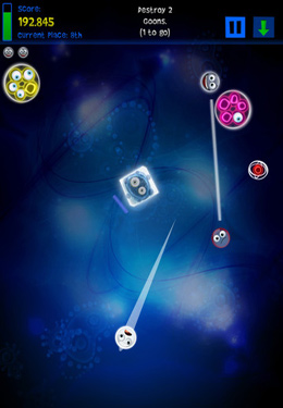 Screenshots of the 3volution game for iPhone, iPad or iPod.