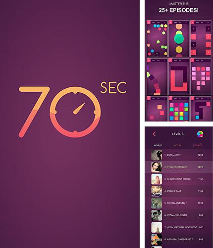Baixe o jogo 70 seconds: Concentration. Attention. Speed para iPhone gratuitamente.