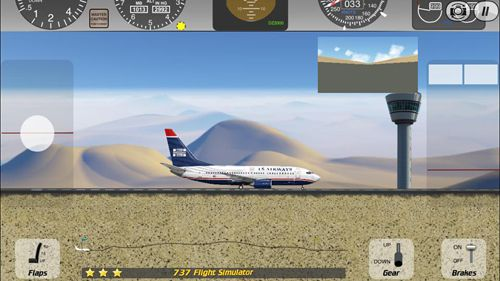 Screenshots of the 737 flight simulator game for iPhone, iPad or iPod.