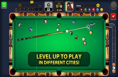 Screenshots of the 8 Ball Pool game for iPhone, iPad or iPod.
