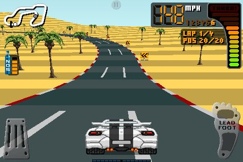 Screenshots of the 8 Bit Rally game for iPhone, iPad or iPod.