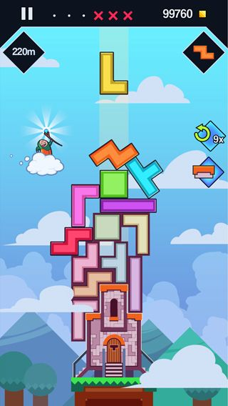 Screenshots of the 99 Bricks: Wizard academy game for iPhone, iPad or iPod.